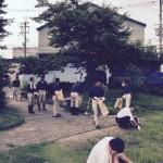 今日は社員全員で北亀井町公園の清掃
