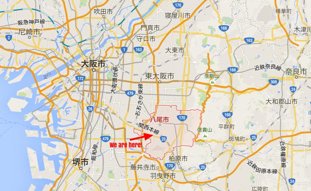 大阪から電車で30分。東京でいうと八王子に通うみたいな。