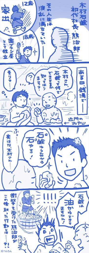 木村石鹸様 4コマ 1