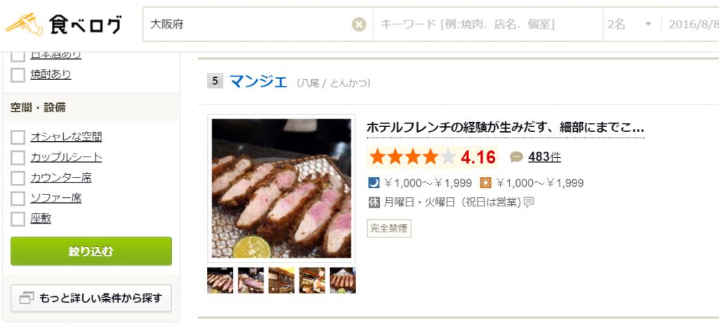 大阪のグルメ情報 総合ランキング 食べログ